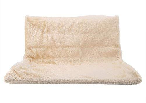 Huisdier kat en hond radiator bed warm en gezellig hangend Hammock kattenwieg bedden met sterk metalen frame en zachte comfortabele pluche afdekking eenvoudige opslag voor katjes puppy's lijl, beige