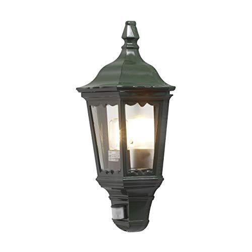 Konstsmide Firenze 7230-600 wandlamp B: 25 cm D: 16 cm H: 49,5 cm / 1x100 W / IP43 / gelakt aluminium/groen/met BWM