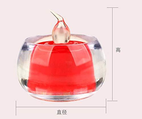 Intérieur en Plein Air Bougie LumièreNoël Décoration Partie LED Électronique Bougie Lumière Fée Bougie Saint Valentin Présent Côté Lampe