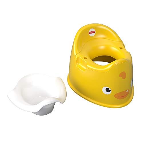 Fisher-Price Orinal patito, juguete de aprendizaje y desarrollo para niños (Mattel GCJ81)