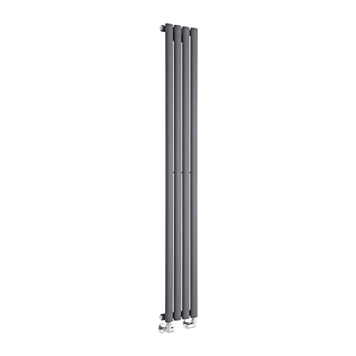Milano Radiador de Diseño Revive Vertical - Antracita - 561W - 1600 x 236mm