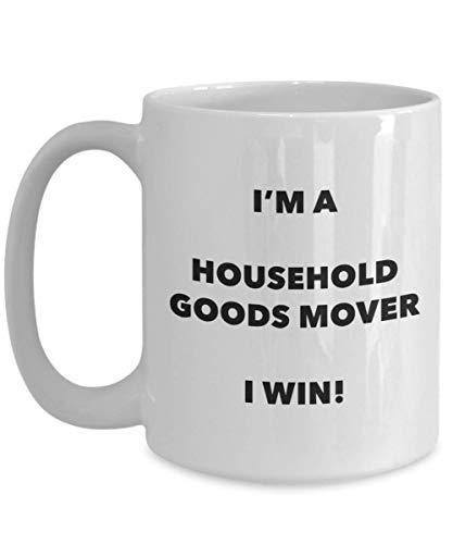 Soy una taza de mudanza de artículos para el hogar. Gano una divertida taza de café, cumpleaños, regalos de Navidad, idea