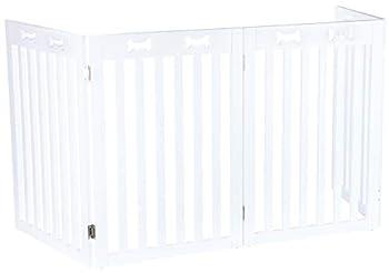 TRIXIE Barrière pour Chiens Blanc MDF/4 Parts 60-160 x 75 cm