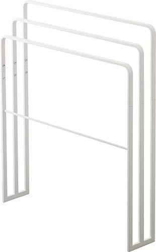 Yamazaki Home - Toallero (metal, 70 x 81 x 14 cm), color blanco