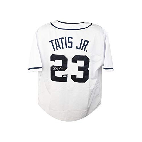 Fernando Tatis Jr Autographed San Diego Padres Custom White Baseball Jersey - BAS COA