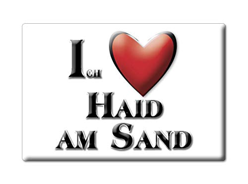 Enjoymagnets HAID AM Sand (by) Souvenir Deutschland Bayern Fridge Magnet KÜHLSCHRANK Magnet ICH Liebe I Love