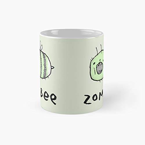 Zombee Classic Mug - Ceramic Coffee White (11 Ounce) Tea Cup Gifts For Bestie, Mom And Dad, Lover, Lgbt