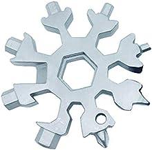 Tagge 18-in-1 Sneeuwvlok Multi-Tool- Opener Sleutelhanger, Outdoor Travel Camping, Geheime Kerstcadeaus voor Mannen, Beste...