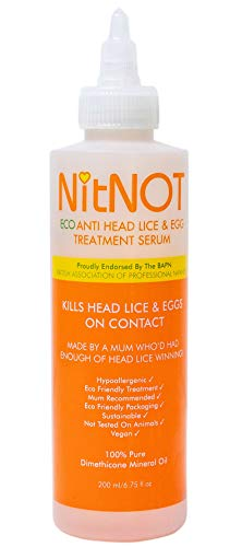 NitNOT 100% Guaranteed Extra Strong Best Head Lice Treatment Shampoo 200ml...