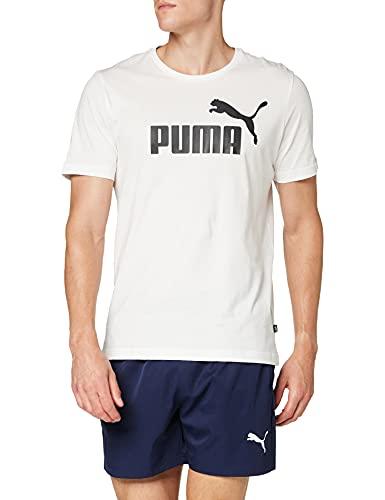 Puma Essentials LG T Camiseta de Manga Corta, Hombre, Blanco White, M