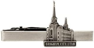 Priesthood Gift Ringmasters LDS Brigham City Utah Temple Gold Steel Tie Bar Tie Clip Tie Clip LDS Missionary