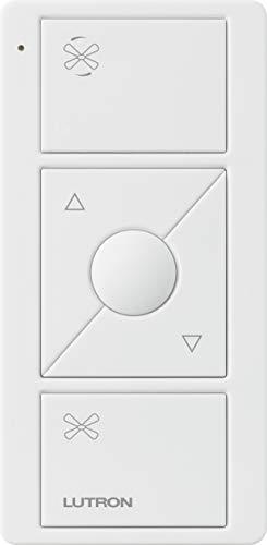 Lutron PJ2-3BRL-WH-F01R - Mando a distancia para ventilador inalámbrico Caseta Smart Control de velocidad, color blanco