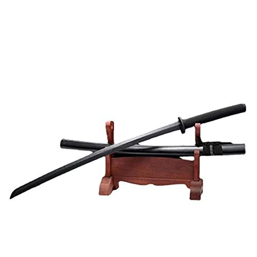 Katana de Madera Negra con Funda, Espadas samuráis de Mader