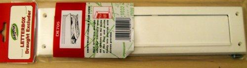 Easyfix Zugluft Dichtung / Briefkasten Dichtung mit Klappe und Befestigung – DE705-Weiss