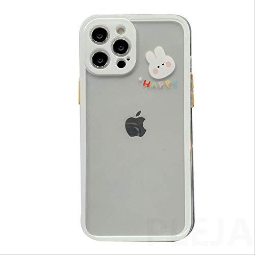Funda de teléfono con diseño de Oso de Conejo de Dibujos Animados Lindo para iPhone XS 12 Mini 11 Pro MAX 7 8 Plus SE 2020 X XR Funda Transparente de Silicona Suave Capa para-iPhone7Plus PP336-2