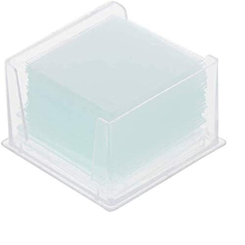 Ycncixwd - 100 portaobjetos de cristal cuadrado transparente para microscopio, instrumento óptico