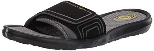 Body Glove Men's Dune Sandal,Black/Grey/Yellow,9 M US