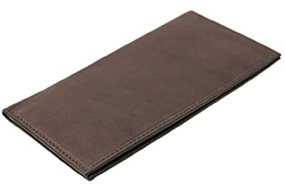 Paul & Taylor Brown Leather Checkbook Cover Bifold Wallet