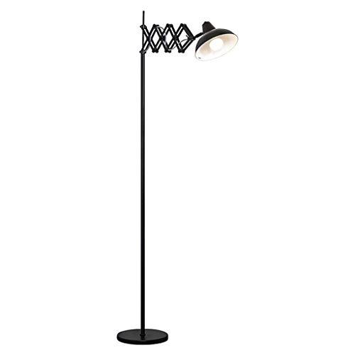 ZXC Home Vloerlamp Slaapkamer Studie Woonkamer Plating Metalen Oogbescherming Telescopische Vouwvloer Lamp Familie Nachtkastje Lezen Licht, 2 Kleuren Optioneel