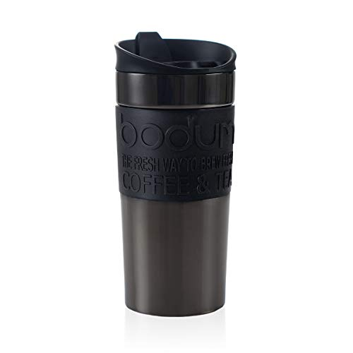 Bodum 11068-380S 11068 – 380S Thermobecher, Edelstahl, Grau Metallic, 9 cm, rostfrei, kupfer