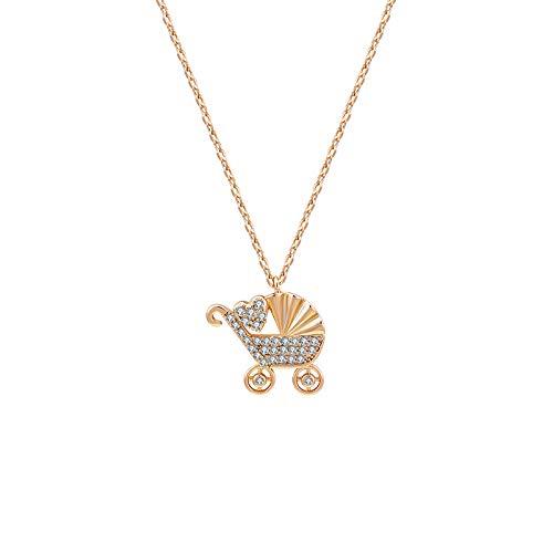 Schmuck Trendy Love Kinderwagen Halskette 18 Karat Vergoldet Weibliche Halskette