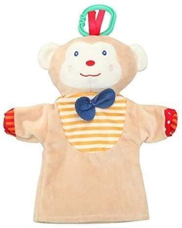 OELPAN Spielzeug 1 stücke Cartoon Weiche Niedliche Tier Teddy Teddy Puppe AFFE/Frosch/Duck Figur Rollenspiel Vater-Kind Interaktion Kleiner Spielzeug (Farbe: 03) (Color : 02)