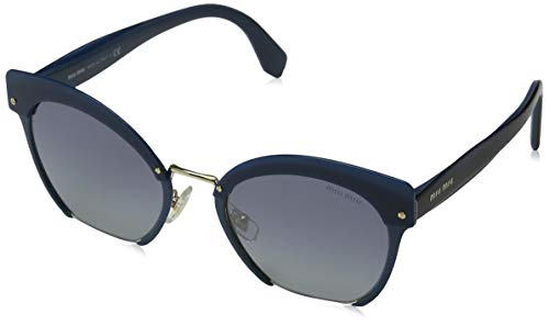 Miu Miu Damen 0Mu53Ts Wwk3A0 53 Sonnenbrille, Blau (Bluette/Greygradblueemirrorsilver)