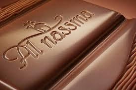 AL NASSMA FEINSTE KAMELMILCH TAFEL-SCHOKOLADE - Vollmilch, Arabia, Dattel und Macadamia/Orange - Menge Tafeln: 4 - produziert in Dubai / UAE