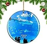 Kysd43Mill Décoration de Noël à Suspendre en céramique pour Aquarium Motif Atlanta