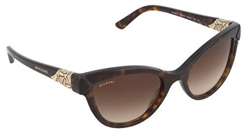 Bulgari Unisex-Erwachsene 8156 Sonnenbrille, Schwarz (Dark Havana), 54