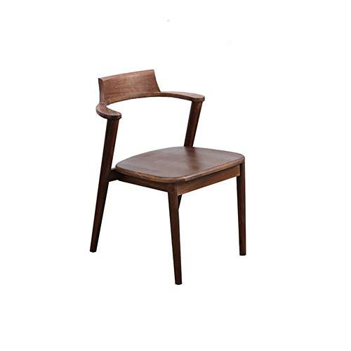 BOXIAO Silla de comedor de madera maciza para el hogar, respaldo de ordenador, silla de oficina, silla de restaurante