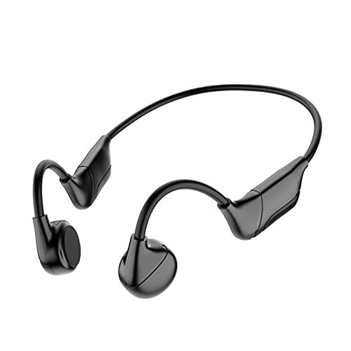 MagiDeal Knochenleitungskopfhörer Bluetooth 5.0 Wiederaufladbares Sport-Headset Musik-Player Biegsam Schweißfest zum Wandern Fahren Radfahren Laufen Sport - Schwarz