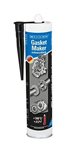 WEICON 30101310 Creador de Juntas  Negro  310ml  sellador Especial  Fuerte y Resistente para Ejes de Motor, Auto, Motocicleta