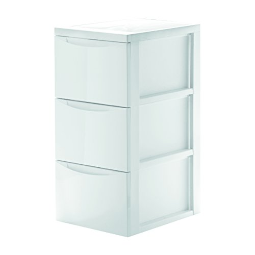 Iris Ohyama 130111 Style Chest 45 L with 3 Drawers, White