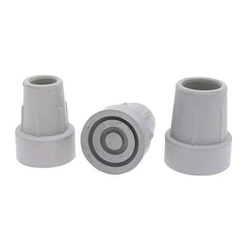 4 Pack 16mm Grijs Krukstijl Rubberen Ferrules, Vervangende Krukvoeten, Krukfrezen, Anti-Markering, Toegevoegd Metalen Wasmachine Voor Sterkte, Kruktips