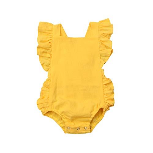 Ropa Bebe Niña, Lanskirt 3M-24M Bodies Bebe Graciosos Imprimiendo Monos Bebe Niña Verano Transpirable Bebé Recién Nacido Niños Niñas Verano Pijamas Bebe Niño 0-3 Meses Niña Encantador