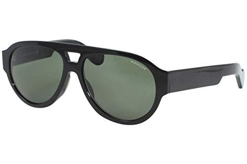 Gafas De Sol Moncler ML 0095 01N Brillante Negro/Verde Lentes