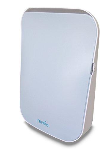 Nuvita 1850 Luftreiniger Air Purifier mit HEPA 1 Technologie und Ionisator - Automodus Schlafmodus Timer - Aktivkohlefilter Ionen-Funktion + HEPA Filter H13 – Italienisches Design - EU Produkt