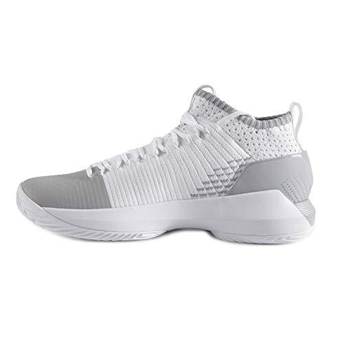 Under Armour 3000089 - Zapatillas de Baloncesto de Sintético Hombre, Blanco (blanco), 45 EU