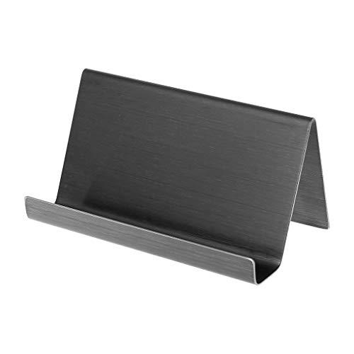 Youliy - Soporte para tarjetas de visita (acero inoxidable, 9 x 5 x 4,5 cm), color negro B