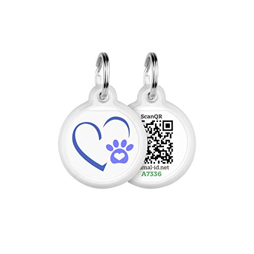 Tags for Dogs - Small Dog Tag & Cat Tag - GPS Pet Id Tag - Scannable QR Code Pet Tags for Location - Cat Id Tag & Dog Id Tag with Online Profile - Funny Dog Tags - Tags for Your Pets