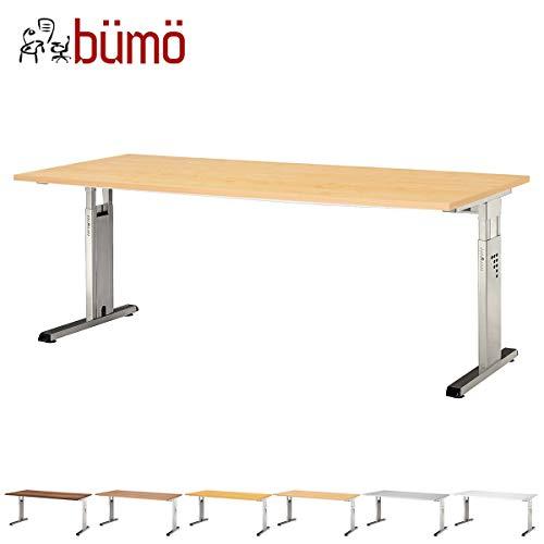 bümö® Schreibtisch für das Büro   Bürotisch in 6 Dekoren & 7 Größen verfügbar   Büroschreibtisch (Ahorn, 80_x_180_cm)