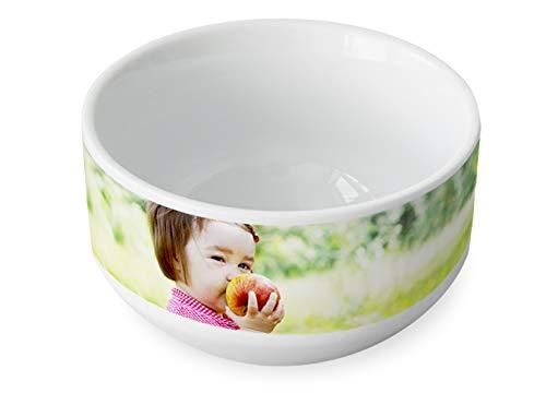 Müslischale mit eigenem Foto - Schüssel mit eigenem Bild - aus hochwertigem Keramik - perfektes Fotogeschenk - Füllmenge 700 ml - Ø 13,2 cm - Höhe 8 cm