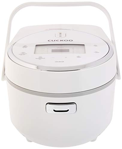 Cuckoo CR-0810F Multifunctional Micom Cooker & Warmer Rice Cooker, 8 cups, White/Silver