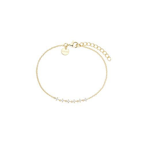 NOELANI Armband für Damen, Sterling Silber 925 vergoldet, Zirkonia