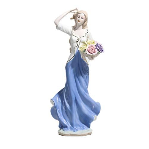 BESPORTBLE Keramik Göttin Figur Porzellan Statue Moderne Skulptur Mädchen Dekofigur Frauen Steinfigur Sammelfigur für Wohnzimmer Tischdeko Büro Schreibtisch Deko Ornament