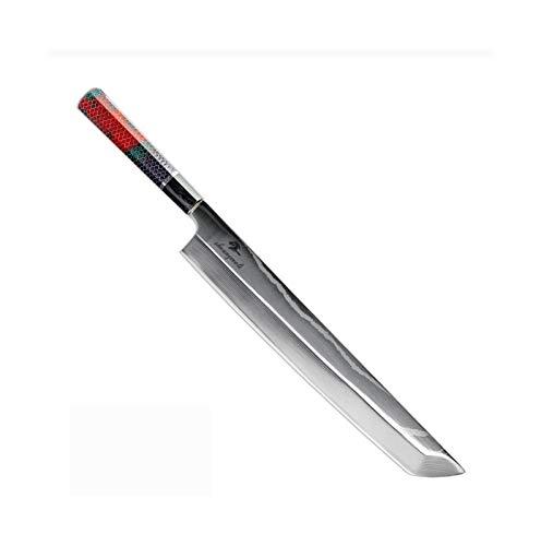 Salmón de 12 pulgadas Sushi filetear Cuchillo de acero VG10 Damasco japonesa...