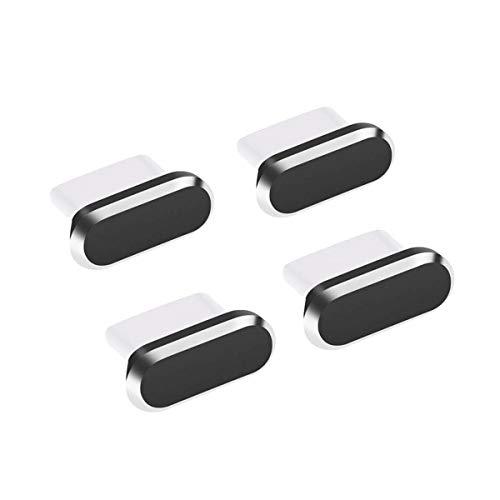 Type-C キャップ コネクタカバー 防塵保護カバー 充電口 コネクタ ダストプラグ 4個入り(ブラック)
