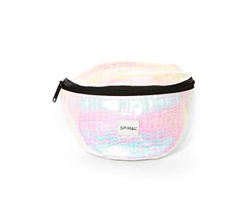 Spiral Textured Iridescent Holographic Bum Bag Riñonera de Marcha 23 Centimeters 2 Multicolor (Multicolour)