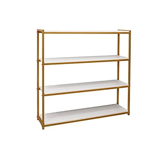 Pantalla de estantería de estantería de estantería de estantería, estantería de estantería de almacenamiento de libros abiertos Rack de cocina, soporte de pantalla de 4 niveles 39 x 12 x 45 pulgadas